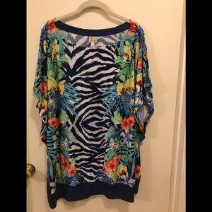 JM tropical dressy shirt size 3x